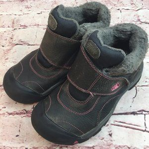 Girl's Keen Winter Fashion Leather Boots Gray Sz 3